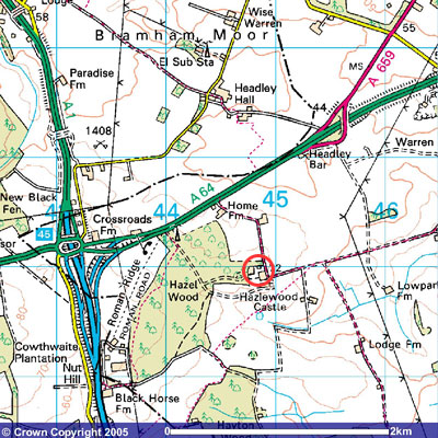 Map to Castle Farm